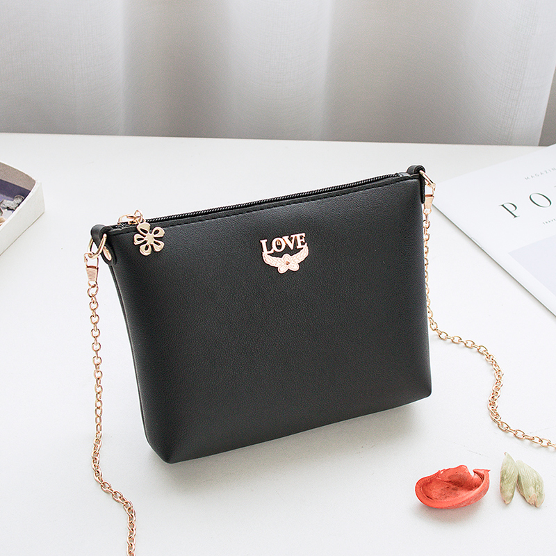 Women Chain Handbag Ladys Mini Shoulder Bag Love Metal Fashion Cross Body Mobile Phone Small Purse Zipper Cute Flap Moderate Price Luggage & Bags Shoulder Bags