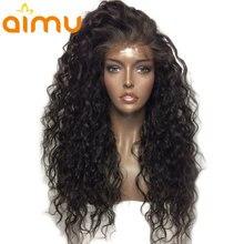 Бразильские влажные и волнистые парики 130% плотность девственные Безглютеновые полные кружевные человеческие волосы парики предварительно сорванные Детские волосы для афроамериканцев