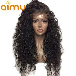 Бразильский влажный и волнистый парик 130% плотность девственные бесклеевые полные кружевные человеческие волосы парики предварительно выщ...