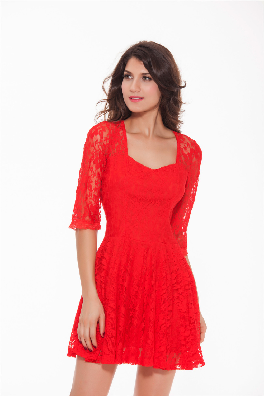 Online Get Cheap Red Valentine Lace Dress -Aliexpress.com ...