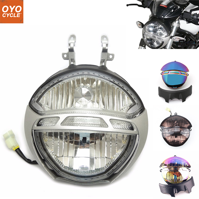 For Ducati Monster 696 659 795 796 1000 1100/S Motorcycle Front Headlight Head Light Lamp Headlamp Assembly for chery riich m1 headlights headlight assembly front lights light headlamp 1pcs