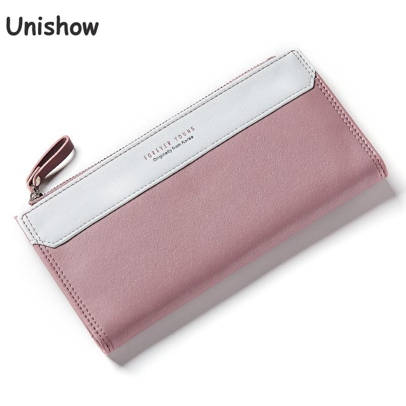 Unishow Women Long Wallets Brand Female Clutch Wallet Phone Coin Pocket Ladies Purse Women Zipper Coin Wallets ,phone Purse Bag candy leather clutch bag women long wallets famous brands ladies coin purse wallet female card phone holders carteira feminina
