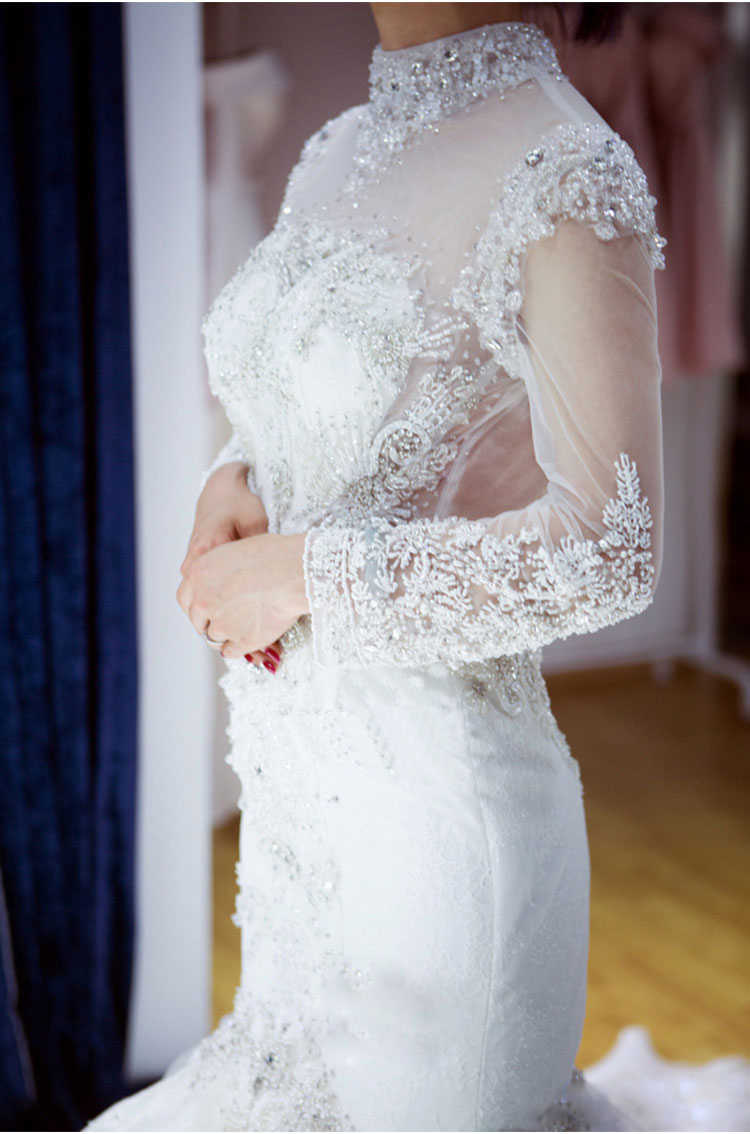 LS65002 atacado sereia casamento vestidos tul, long sleeve, backless, beleza, nupcial, casamento, vestir, vestidos, 2018, último, design