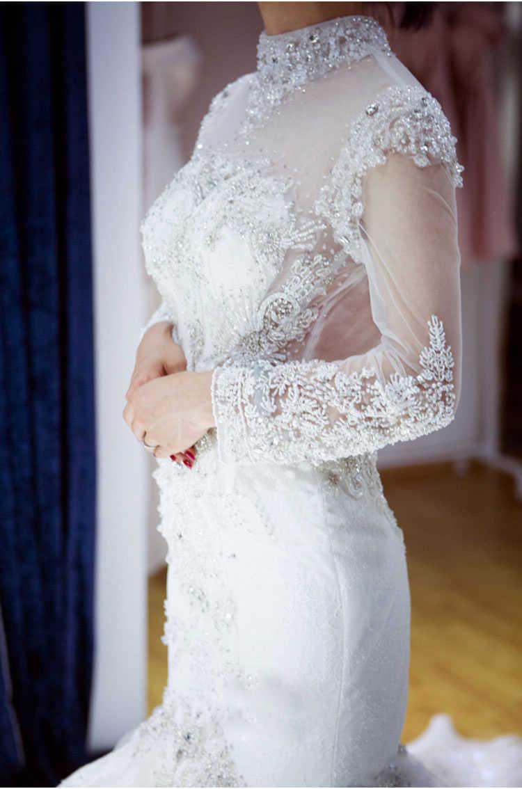 LS65002 свадебное платье рыбкаоптовая продажа русалки свадебные платья тюль с длинным рукавом без бретелек свадебные платья свадебные платья 2018 последний дизайн