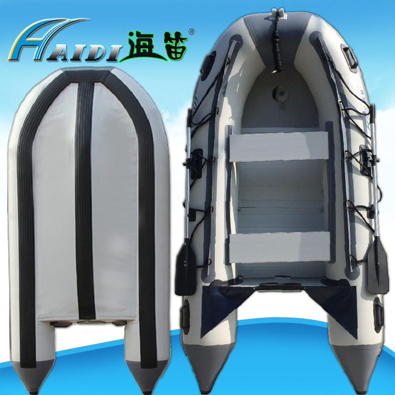 HaiDi PVC Inflatable Boat 5 6 person Sport Fishing Rescue Dinghy Boat Yacht Tender Raft aluminum alloy base plate lifeboat 3.6 M