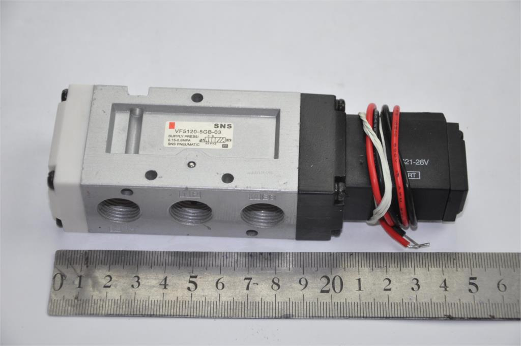 Solenoid air pneumatic valve VF5120-5GB-02 3/8BSPT SMC type DC24V 2/5WAY cable outgoing directly 1pcs 4v310 10 dc24v 5way 2 position single solenoid pneumatic air valve 3 8 bspt brand new