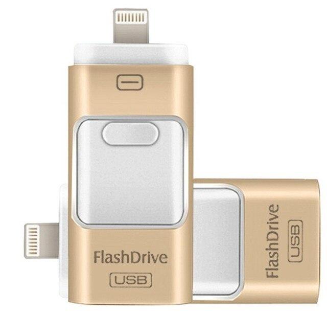 Para iphone 7 7 s plus 6 6 s ipad pen drive de memoria palo estable performance otg micro usb flash drive de 16 gb 32 gb 64 gb 128 GBPENDRIVE