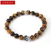 Thomas Style Tiger S Eye Beads Bracelets Skull Viking Vintage Partner In Crime Friendship Bracelets TS