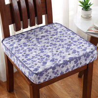 Purple Leaf Print Thickness 8cm Chair Cushion Mat For Winer Antislip Dining Seat Cushion Pad Quality Poam Chair Cushions 1pcs