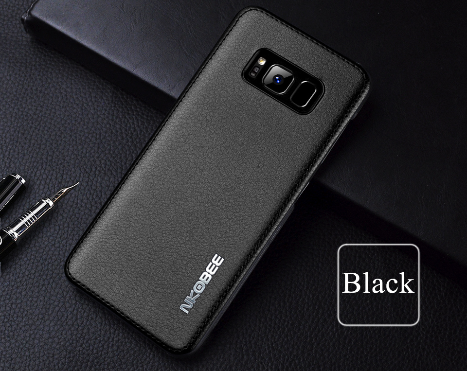 For Samsung Galaxy S8 Case Leather Luxury Cover Case For Samsung Galaxy S8 S8 Plus Case S8 S8 Plus Original Hard Back NKOBEE (14)