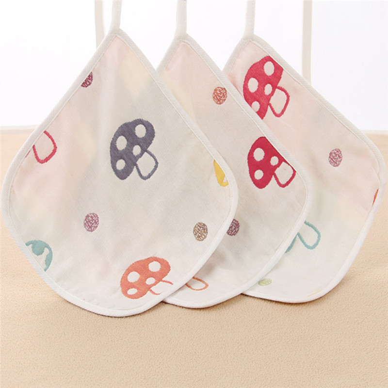 Hot sale Baby Bib Six-Layers Hanging Buckle Baby Towel Child Handkerchief Baby Scarf Summer Must