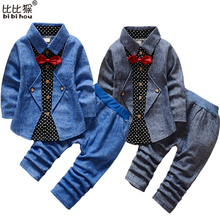1-5yrsNew Baby Boy Girls Clothes Spring Kids Clothes Gentleman Toddler Suit 2Pcs Boys Clothing Set Boy clothes Children clothing