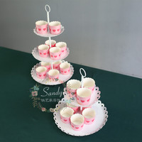 New arrive 2 tiers 3 tiers cake stand/cake tray for wedding decoration
