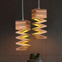 Art Deco Meteor Rain Wooden Pendant Light For Home Decoration Modern Hotel Room Living Room Single