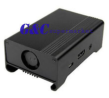 Best price Black Aluminum Shell Enclosure Case Box Geekworm Raspberry Pi 2 Model B B+ UL