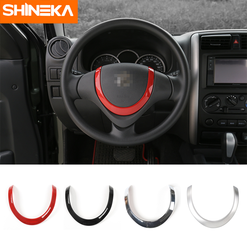 SHINEKA Car Styling Steering Wheel Cover U-Shaped Decoration Moulding Kit for Suziki Jimny 2007 Up Car Accessories
