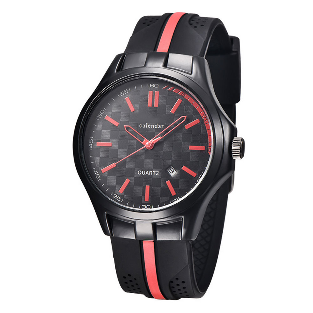 Men Causal Military Quartz Watch Silicone Stripe Strap Wristwatch Casual Sports Watches Date Clock Gifts For Boy Friend  LL@17 60%off fashion silicone bracelet watch olevs men classic design military watches quartz auto date diver sports wristwatch 2017
