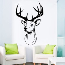 Newest Art Wall Decals Stags Head Stress Wall Mural For Living Room Art Decoration Trophy Antlers Steer Wall Mural Y-679 цена и фото
