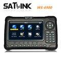 [Original] ws-6980 satlink buscador de señal de satélite del buscador de satélite digital dvb-s2/t2/c con espectro envío gratis