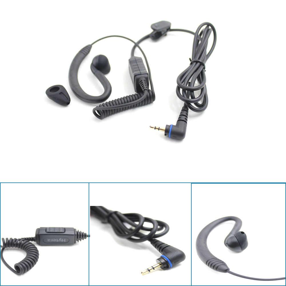 100% оригинальная гарнитура лучшее качество EHS16 g-форма ушной крючок наушник для Hytera PD355/PD365 Twao way радио