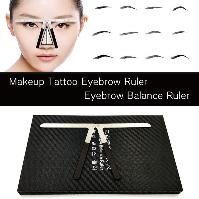Biomaser Tattoo Eyebrow Ruler Three-Point Positioning Permanent Makeup Symmetrical tool Grooming Stencil Shaper Balance Ruler 1