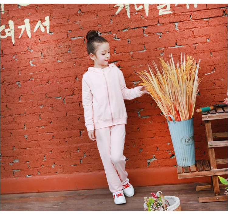 2016 character tracksuits childrens clothing for girls kids hooded hoodies coats pants girl clothes suits gray pink sports sets  5 6 7 8 9 10 11 12 13 14 15 16 years old little big teenage girls clothing set (9)