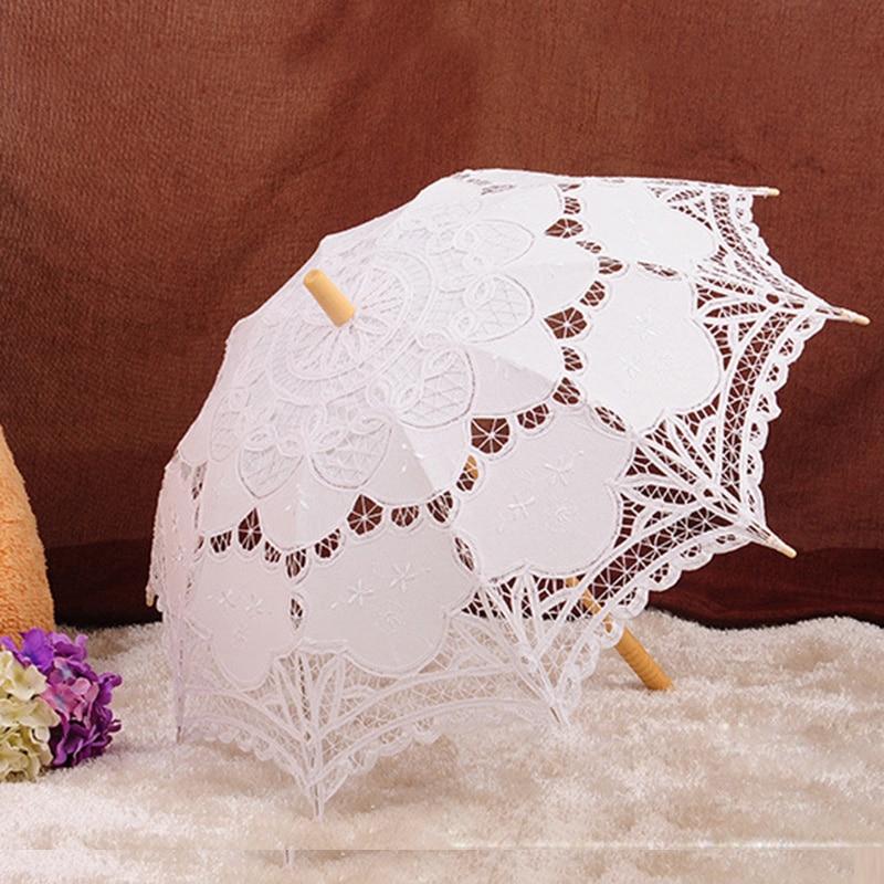 Ücretsiz Kargo Dantel Manuel Açılış Düğün Şemsiye Gelin - Düğün Aksesuarları - Fotoğraf 5