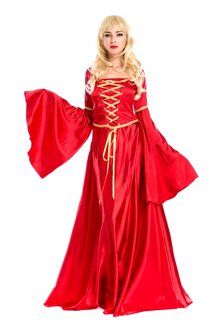 Noble Women Classical Medieval Renaissance Costume Evening Party Bridal Wear Maxiskit Full Dress