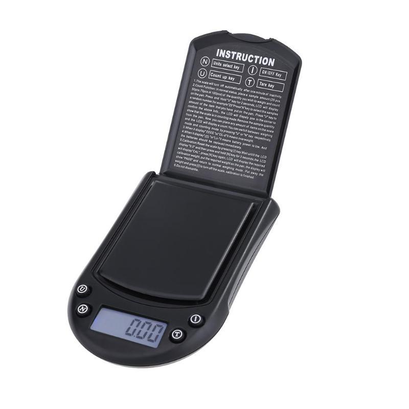 Portable High Precision Digital Scale 0.01g LCD Electronic Scale Auto Off Mini Pocket Diamond Jewelry Scale 200gx0.01g