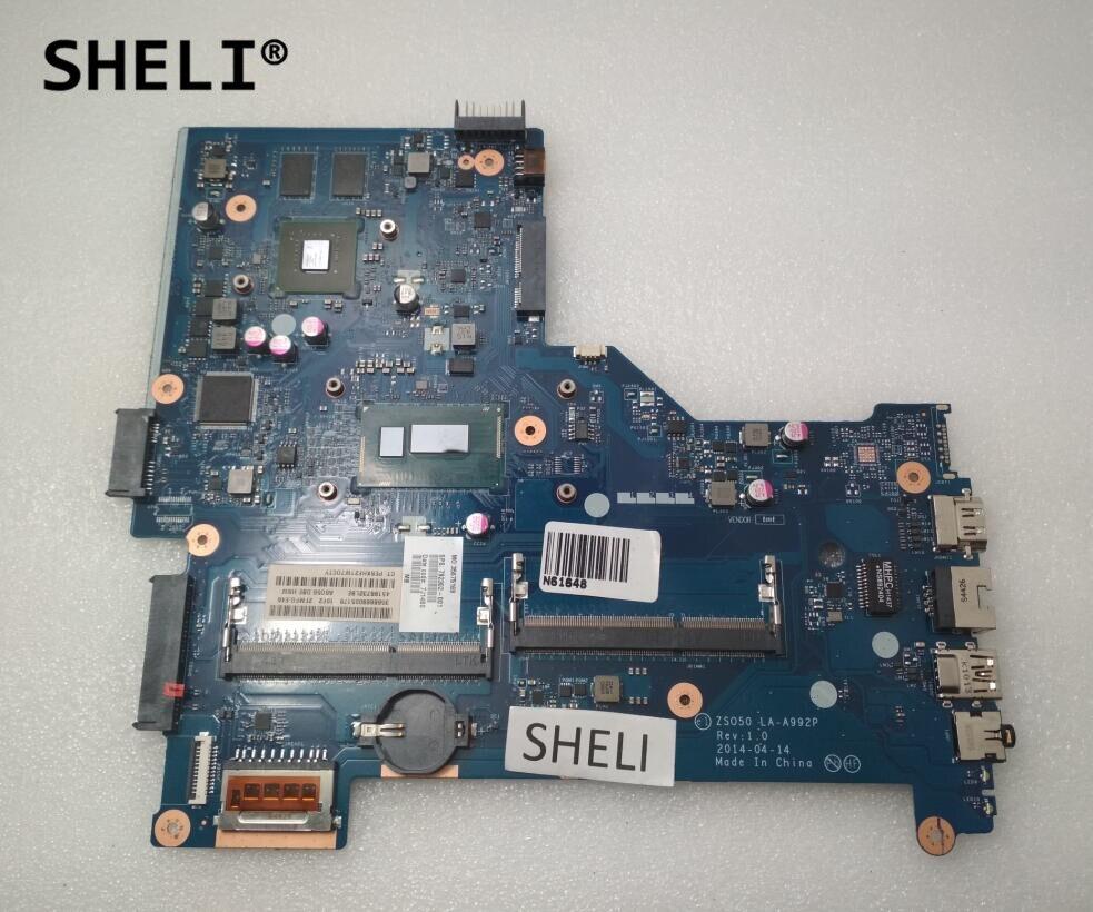 SHELI For HP 15-R Motherboard with I7-4510U CPU with Discrete Video Card ZSO50 LA-A992P 792302-501 792302-001