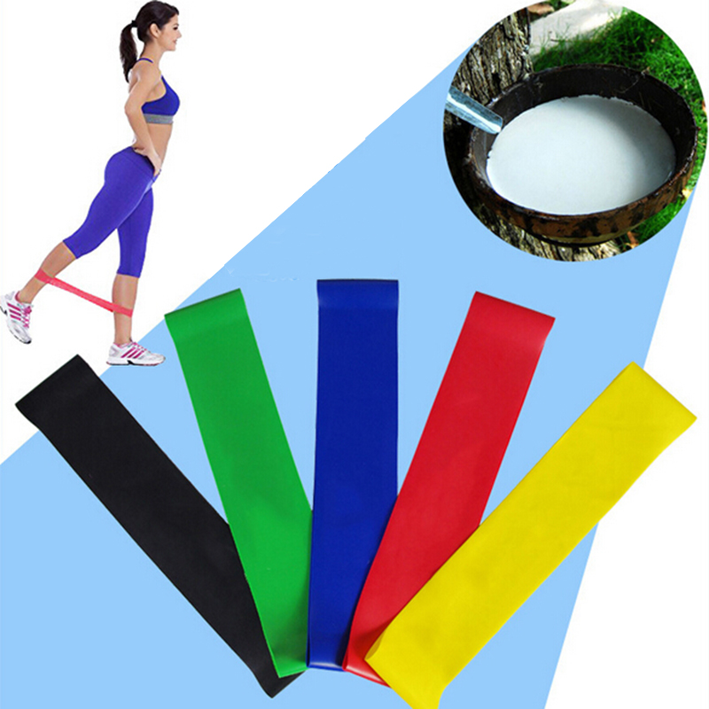 Indoor Fitness Yoga Resistance Bands Body Building Yoga Stretch Belt Rubber Band Elastic Exercise Pull Up Straps Sport Gym