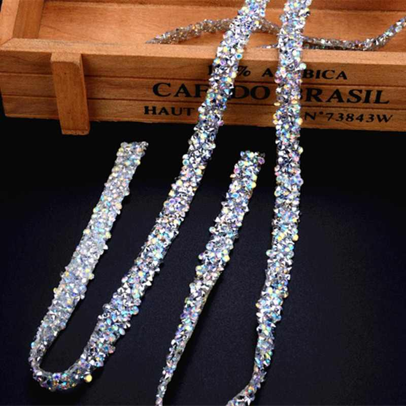 free ship!5yard lot BlingBling AB rhienstone mesh Trim strass chain banding  crystal wedding 5cd9b9bf4aaf