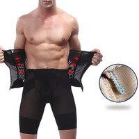 Waist Shapers Steel Boned Corset Abdomen Slimming Underwear Belts Firm Control Belly Trimmer Long Waist Cinchers Belt S-XXXL