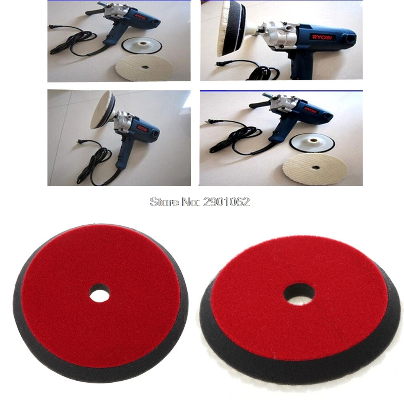 Car Auto Soft Wool Buffing Polishing Pad Professional Detailing Mixed Color 6