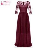 TANYA BRIDAL Appliques A line V Neck Three Quarter Bridesmaid Dresses New 2019 Flowers Formal Wedding Party Dress JQ367
