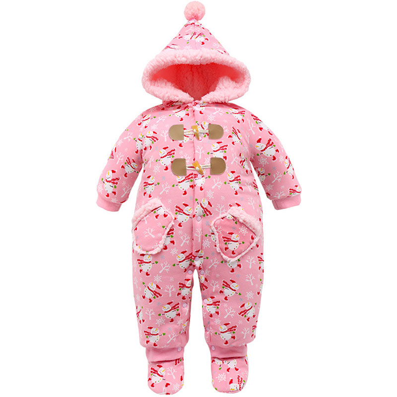 New Year Christmas Baby Girl Rompers Newborn christmas tree snowflake Thickening Cotton Jumpsuit baby girl clothes все цены