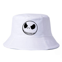 the Night Before Christmas Jack Skellington Skull Cotton bucket hat harajuku  pop fisherman cap leisure panama fishing hats
