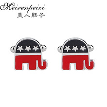 Elephant Cufflinks Animal Jewelry Gifts NoveltyCuff Links for Him Mens Accessories