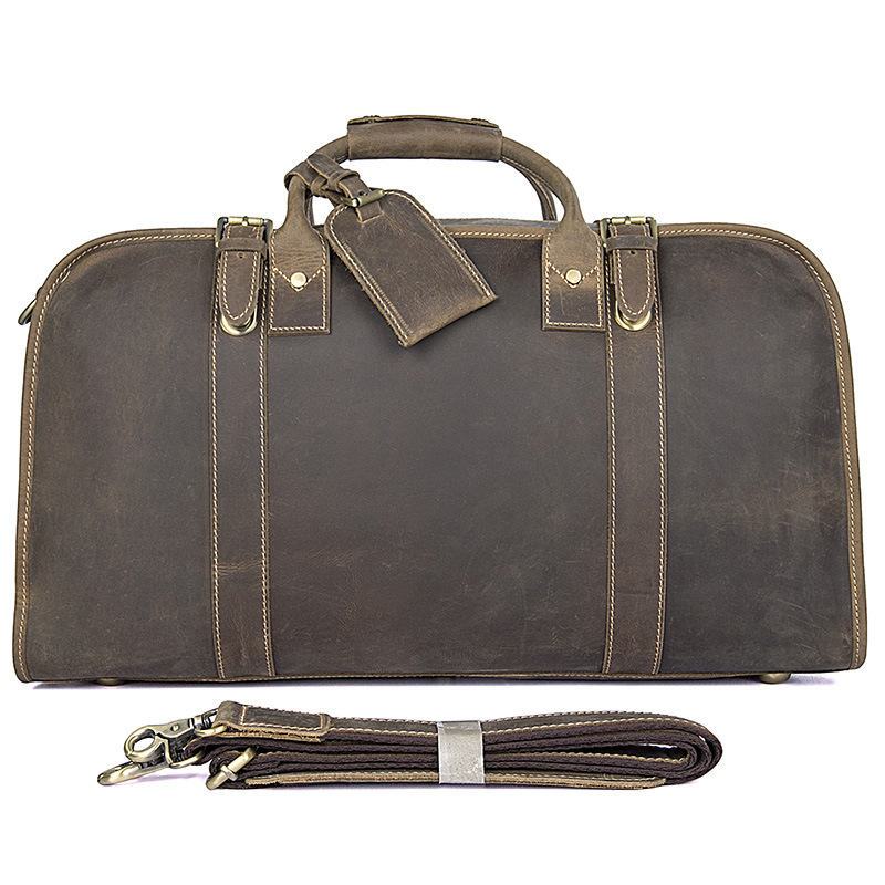 A Original Design Leather Men\'S First Layer Cowhide Retro Large Capacity Travel Bag 6004R