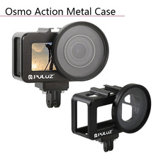 Case Aluminum Alloy Housing Frame Protective Open Shell with UV Lens Cover Sports Camera Accessories for DJI Osmo Action