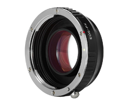 Focal Reducer Speed Booster Turbo Lens Adapter for Canon EF EOS Mount Lens to Fujifilm FX Xpro1 X-E1 X-M1 X-E2 X-A1 X-T1