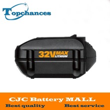 High Quality Newest 32V 2000mAh Lithium Replacement battery for WORX Models WG175 WG575 WG575 1 WG924