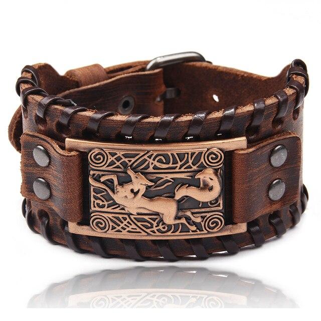 Bracelet en cuir tressé Viking 2