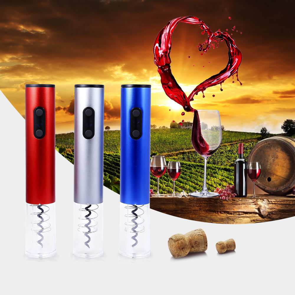 Hot Electric Wine Opener Electric Automatic Wine  Bottle Opener Automatic Corkscrew With Foil Cutter And Vacuum Stopper 3 Colors