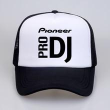 DJ style Pioneer Baseball Cap  Summer cool Mesh Trucker Cap Women Men print Pioneer DJ PRO Snapback hat bone gorras pioneer rmx 500 dj