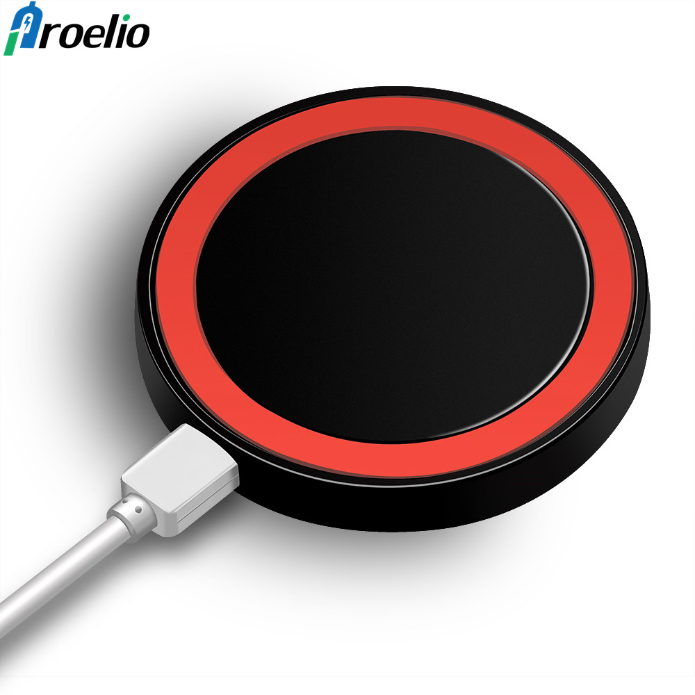 Proelio Mini Qi Wireless Charger USB Charging Pad for Samsung S8 S7 S6 edge Note8 Mobile ...