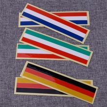 CITALL 2pcs Tri-color Steering Wheel Flag Decal Vinyl  Emblem High Quality Car Sticker Waterproof fit for BMW M M3 M5 M6
