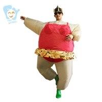 Halloween Costume Men Cosplay Inflatable Ballerina Costume Ballet Carnival Costumes Adult Fancy Dress Stitch Onesie