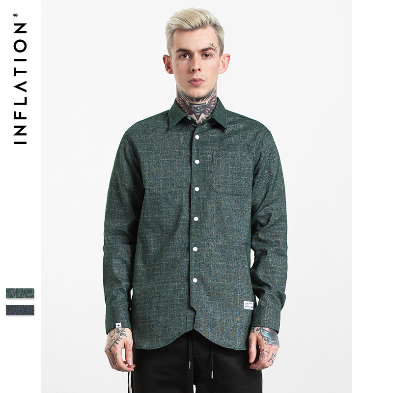 Buy inflation 2017 new autumn men shirt for Latest shirts for mens 2017