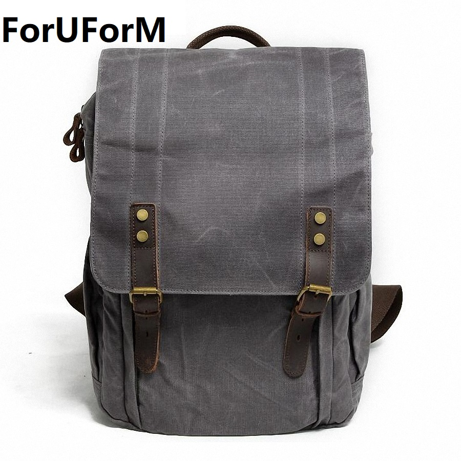 Men Waterproof Canvas Backpack Bags Teenagers College Student Book Backpack 14 Inch Laptop Bag Mochila Casual Rucksacks LI-1966 voyjoy t 530 travel bag backpack men high capacity 15 inch laptop notebook mochila waterproof for school teenagers students